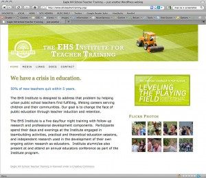 Eagle Hill School site in Firefox